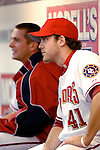 13 June 2006: Shawn Hill (41), pitcher for the Washington Nationals, in the dugout during a game against the Colorado Rockies at RFK Stadium, in Washington, DC. The Rockies defeated the Nationals 9-2 in the second game of the four-game series...Mandatory Photo Credit: Ed Wolfstein Photo..