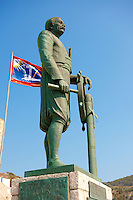 Statue of Admiral Andreas Miaoulis, leader of the fleet in the 1821 Greek Revolution of Indipendance, Hyrda,  Greek Saronic Islands.
