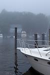 Foggy harbor on Lake MIchigan, Saugatuck, Michigan, USA