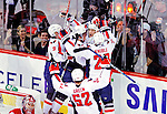 10 February 2010: Washington Capitals' center Brooks Laich celebrates scoring the game tying goal, and his hat-trick, with seconds emaining in the third period against the Montreal Canadiens at the Bell Centre in Montreal, Quebec, Canada. The Canadiens defeated the Capitals 6-5 in sudden death overtime, ending Washington's team-record winning streak at 14 games. Mandatory Credit: Ed Wolfstein Photo