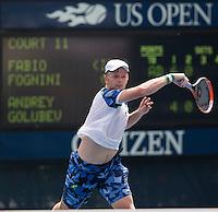 ANDREY GOLUBEV (KAZ)<br /> The US Open Tennis Championships 2014 - USTA Billie Jean King National Tennis Centre -  Flushing - New York - USA -   ATP - ITF -WTA  2014  - Grand Slam - USA  <br /> <br /> 26th August 2014 <br /> <br /> &copy; AMN IMAGES