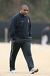 02 December 2007: West Virginia head coach Marlon LeBlanc. The Wake Forest University Demon Deacons defeated the West Virginia University Mountaineers 3-1 at W. Dennie Spry Soccer Stadium in Winston-Salem, North Carolina in a Third Round NCAA Division I Mens Soccer Tournament game.