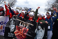 Washington, DC - January 27, 2017: Teens from the St. Michael The Archangel High School in Fredericksburg, VA participate in the annual March for Life on the National Mall in the District of Columbia, January 27, 2017.  (Photo by Don Baxter/Media Images International)