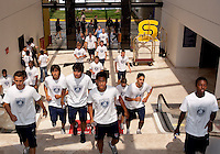U17 Men's National Team walk around the hotel before the 2009 CONCACAF Under-17 Championship From April 21-May 2 in Tijuana, Mexico