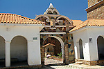 South America, Bolivia, Calamarca. Church of Calamarca Entrance.