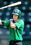 2 July 2011: Vermont Lake Monsters' shortstop Sam Roberts awaits his turn in the batting cage prior to a game against the Tri-City ValleyCats at Centennial Field in Burlington, Vermont. The Lake Monsters rallied from a 4-2 deficit to defeat the ValletCats 7-4 in NY Penn League action. Mandatory Credit: Ed Wolfstein Photo