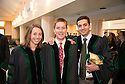 Louisa Mook, Robert Areson, Mohammed Almzayyen, from left. Commencement class of 2013.