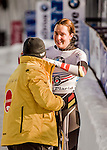 8 January 2016: Jacqueline Loelling, competing for Germany, smiles after completing her second run of the BMW IBSF World Cup Skeleton race with a combined 2-run time of 1:51.52, earning an 8th place finish for the day at the Olympic Sports Track in Lake Placid, New York, USA. Mandatory Credit: Ed Wolfstein Photo *** RAW (NEF) Image File Available ***