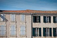 Traditional French architecture in La Flotte, Ile de Re, France