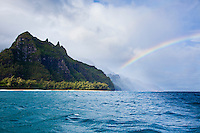 Kalalau Valley rainbow on the Na Pali Coast of Kauai
