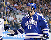 Derrick Burnett (Air Force - 17) - The Yale University Bulldogs defeated the Air Force Academy Falcons 2-1 (OT) in their East Regional Semi-Final matchup on Friday, March 25, 2011, at Webster Bank Arena at Harbor Yard in Bridgeport, Connecticut.