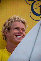 HONOLULU - (Saturday, November 24, 2012) John John Florence (HAW).  -- The REEF Hawaiian Pro at Haleiwa Ali'i Beach wrapped up today with Sebastien 'Seabass'  Zietz (HAW) taking out first place ahead of defending Triple Crown Champion John John Florence (HAW) with fellow North Shore local Fred Patacchia (HAW) in third and Brazilian Alejo Muniz (BRA) in fourth. On the strength of the results both Zietz and Patacchia will qualify for the 2013 World Championship Tour.. Photo: joliphotos.com
