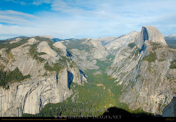 Half Dome and Tenaya Canyon in Autumn, Glacier Point, Yosemite National Park