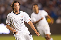 USA's Mixx Diskerud (16) moves to the ball. US Men's National team played the National team of Chile to 1-1 draw at Home Depot Center stadium in Carson, California on Saturday January 22, 2010.