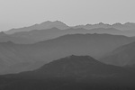 Misty mountain ridges of the Eastern Sierra at dawn, Toiyabe National Forest, California
