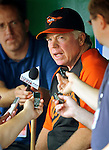 19 June 2011: Baltimore Orioles' Manager Buck Showalter briefs the media prior to a game against the Washington Nationals at Nationals Park in Washington, District of Columbia. The Orioles defeated the Nationals 7-4 in inter-league play, ending Washington's 8-game winning streak. Mandatory Credit: Ed Wolfstein Photo
