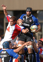 20,05/06 Powergen Cup Bath Rugby vs Bristol Rugby, Bath, ENGLAND, 01.10.2005 Baths Danny Crewcock collects the lin eout ball.   © Peter Spurrier/Intersport Images - email images@intersport-images..