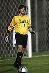 Duke University goalkeeper Justin Papadakis on Tuesday, October 11th, 2005 at Duke University's Koskinen Stadium in Durham, North Carolina. The Duke University Blue Devils defeated the Western Illinois Leathernecks 2-0 during an NCAA Division I Men's Soccer game.
