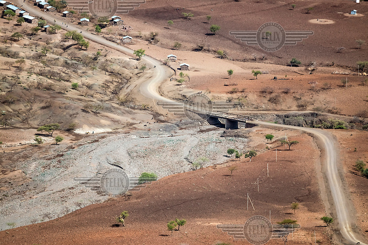 The dry landscape at the border of Amhara and Tigray region. <br /> Ethiopia is experiencing its worst drought in over 50 years. The emergency started early in 2015 with the failure of the February-April 'Belg' rains and was further compounded by the main 'Kiremt' rain season (July-September) being erratic and poor, caused by an exceptional El Nino event.