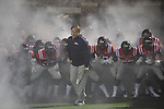 Ole Miss head coach Houston Nutt leads the onto the field against LSU at Vaught-Hemingway Stadium in Oxford, Miss. on Saturday, November 19, 2011.