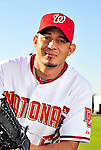 28 February 2010: Washington Nationals relief pitcher Joel Peralta poses for his Spring Training photo at Space Coast Stadium in Viera, Florida. Mandatory Credit: Ed Wolfstein Photo