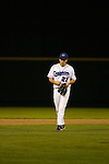 5/4/07 Omaha, NE  Pat Venditte Jr., an ambidextrous pitcher for Creighton University, pitches in a game Friday night against Southern Illinois University.<br /> <br /> Here he switches hands on his special six-fingered glove.<br /> <br /> (photo by Chris Machian/for Prairie Pixel Group).
