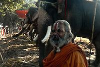 A Sadhu (Indian holy man) at Sonepur fair ground. Bihar, India, Arindam Mukherjee