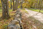 The Battle Road, Minuteman National Historic Park, Lincoln, Massachusetts, USA