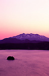Sunrise over the world's second deepest volcanic lake - Lake Mashuuko in the Akan National Park, Hokkaido, Japan