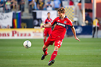 Arne Friedrich (23) of the Chicago Fire. The Chicago Fire defeated the Philadelphia Union 3-1 during a Major League Soccer (MLS) match at PPL Park in Chester, PA, on August 12, 2012.