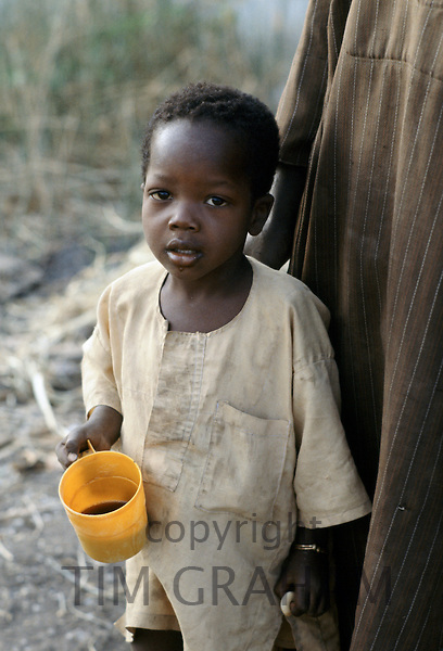 A child at Hospital Health Centre in The Gambia, Africa