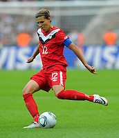 Christine Sinclair of Canada during the FIFA Women's World Cup at the FIFA Stadium in Berlin, Germany on June 26th, 2011.