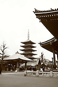 Mar 6, 2006; Tokyo, JPN; Asakusa.Gojuno-to (five storied pagoda) next to the Senso-ji Buddhist temple (right)...Photo credit:  Darrell Miho