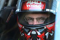 May 19, 2012; Topeka, KS, USA: NHRA top fuel dragster driver Doug Kalitta during qualifying for the Summer Nationals at Heartland Park Topeka. Mandatory Credit: Mark J. Rebilas-