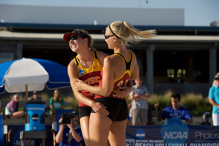 07 MAY 2016:  The Division I Women's Beach Volleyball Championship takes place at the Beach at Gulf Shores in Gulf Shores, AL.  Jamie Schwaberow/NCAA Photos
