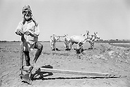 1970, Punjab, India --- Elderly farmer in a field in the Punjab. --- Image by © JP Laffont