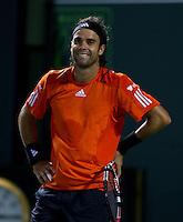 Fernando GONZALEZ (CHI) against Juan MONACO (ARG) in the third round of the men's singles. Fernando Gonzalez defeated Juan Monaco 6-7 6-4 6-2..International Tennis - 2010 ATP World Tour - Sony Ericsson Open - Crandon Park Tennis Center - Key Biscayne - Miami - Florida - USA - Mon 29th Mar 2010..© Frey - Amn Images, Level 1, Barry House, 20-22 Worple Road, London, SW19 4DH, UK .Tel - +44 20 8947 0100.Fax -+44 20 8947 0117