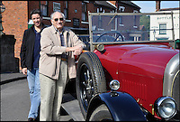 BNPS.co.uk (01202 558833)<br /> Pic: BlackCountryMuseum/BNPS<br /> <br /> ***Please Use Full Byline***<br /> <br /> Graeme French and son Timothy came all the way from Australia to take a spin in his Grandfather&rsquo;s 1925 &lsquo;Bean 14&rsquo; car after the family discovered it refurbished and on display at the Black Country Living Museum.<br /> <br /> Intrepid Graeme French has travelled 9,000 miles to drive his late grandfather's vintage car after finding it had been saved by a British museum.<br /> <br /> Graeme, 77, recalled sitting in the the 1925 Bean 14 motor with grandfather Thomas Woodall as a young boy.<br /> <br /> After Mr Woodall suffered from ill-health in the 1940s he put the red car in a garage he owned in Smethwick in Birmingham where it remained untouched for years.<br /> <br /> It was only when the lease on the garage expired and his widow was reminded of the car that it finally left the family.