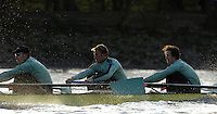 PUTNEY, LONDON, ENGLAND, 05.03.2006, CUBC; Cambridge right, No. 2 Tom Edwards; No.3 Sebastian Thormann; No 4. Thorsten Englemann;  Pre 2006 Boat Race Fixtures,.   © Peter Spurrier/Intersport-images.com[Mandatory Credit Peter Spurrier/ Intersport Images] Varsity Boat Race, Rowing Course: River Thames, Championship course, Putney to Mortlake 4.25 Miles