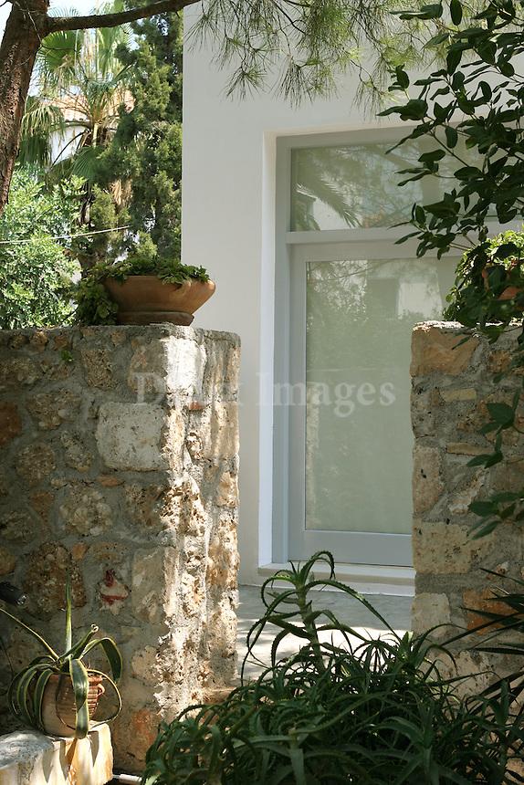 traditional stone retaining walls