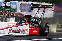 May 14, 2016; Commerce, GA, USA; NHRA top fuel driver Kyle Wurtzel during qualifying for the Southern Nationals at Atlanta Dragway. Mandatory Credit: Mark J. Rebilas-USA TODAY Sports