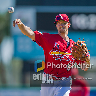 6 March 2016: St. Louis Cardinals pitcher Mike Leake warms up prior to a Spring Training pre-season game against the Washington Nationals at Roger Dean Stadium in Jupiter, Florida. The Nationals defeated the Cardinals 5-2 in Grapefruit League play. Mandatory Credit: Ed Wolfstein Photo *** RAW (NEF) Image File Available ***