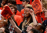 CHARLOTTESVILLE, VA- DECEMBER 6: Virginia Cavaliers fans cheer during the game on December 6, 2011 against the George Mason Patriots at the John Paul Jones Arena in Charlottesville, Virginia. Virginia defeated George Mason 68-48. (Photo by Andrew Shurtleff/Getty Images) *** Local Caption ***