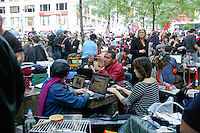 Protesters on laptops at the Occupy Wall Street Protest in New York City October 6, 2011.