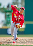 13 March 2016: St. Louis Cardinals pitcher Jack Flaherty, ranked the Number 2 Top Prospect in the Cardinals organization for 2016 by MLB, on the mound during a pre-season Spring Training game against the Washington Nationals at Space Coast Stadium in Viera, Florida. The teams played to a 4-4 draw in Grapefruit League play. Mandatory Credit: Ed Wolfstein Photo *** RAW (NEF) Image File Available ***