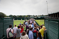 AMBIENCE..Tennis - Grand Slam - The Championships Wimbledon - AELTC - The All England Club - London - Wed June 27th 2012. .© AMN Images, 30, Cleveland Street, London, W1T 4JD.Tel - +44 20 7907 6387.mfrey@advantagemedianet.com.www.amnimages.photoshelter.com.www.advantagemedianet.com.www.tennishead.net