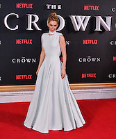 Vanessa Kirby<br /> Premiere of The Crown, a new Netflix TV series about the reign of Queen Elizabeth II, at Odeon Leicester Square, London, England November 01, 2016.<br /> CAP/JOR<br /> &copy;JOR/Capital Pictures /MediaPunch ***NORTH AND SOUTH AMERICAS ONLY***