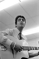 Manhattan, New York City, USA. February 17th, 1968. French singer Enrico Macias rehearsing for his first concert in the U.S. at New York's Carnegie Hall.