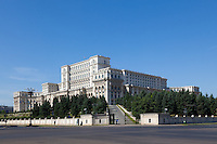 The Palace of the Parliament (Also known as Ceausescu&rsquo;s Palace or House of The People) in Bucharest, Romania. Built 1983-1989. Architect: Anca Petrescu