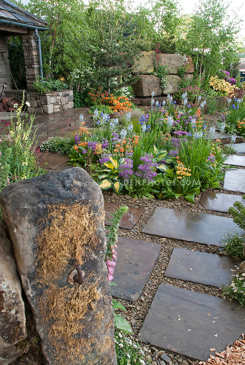 Beautiful patio flower garden | Plant & Flower Stock Photography ...
